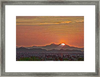 Framed Print featuring the photograph Sunset Rays Remix by Dan McManus