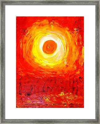 Sunset Red Framed Print by Piety Dsilva