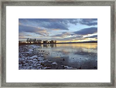 Sunset Refections Framed Print by James Steele