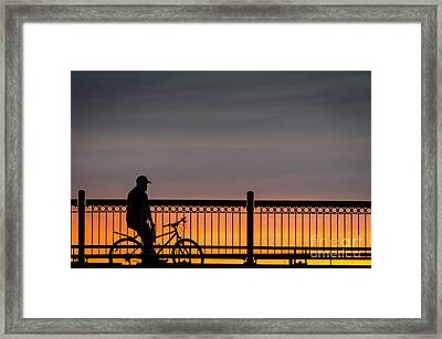 Sunset Reflection Framed Print by Mike Ste Marie