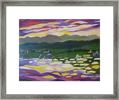 Sunset Reflection Framed Print by Saga Sabin