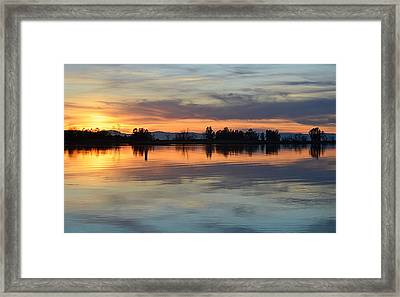 Sunset Reflections Framed Print by AJ Schibig