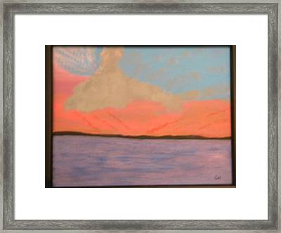 Sunset Reflections Framed Print by Chris Heitzman