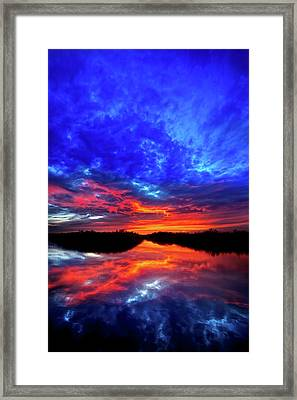 Sunset Reflections II Framed Print by Mark Andrew Thomas