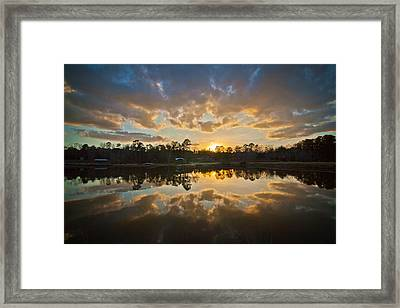 Sunset Reflections Framed Print by Linda Unger