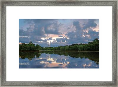 Framed Print featuring the photograph Sunset Reflections by Lori Coleman