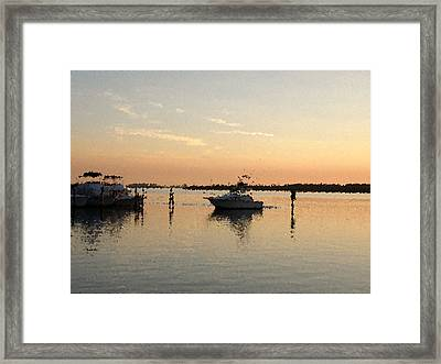 Sunset Reflections Framed Print by Rose  Hill