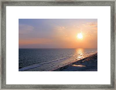 Sunset Reflections Framed Print by Theresa Campbell