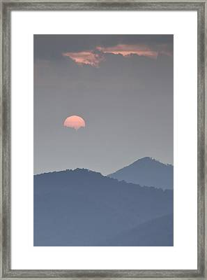 Sunset Repition - Blue Ridge Parkway Sunset Scene Framed Print by Rob Travis