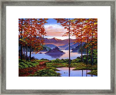 Sunset Reverie Framed Print by David Lloyd Glover