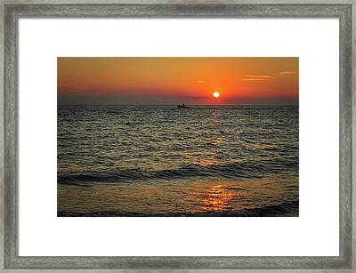 Sunset Ride Cape May Point Nj Framed Print