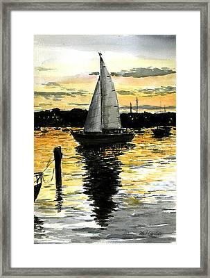 Sunset Ride Framed Print by Paul Gardner