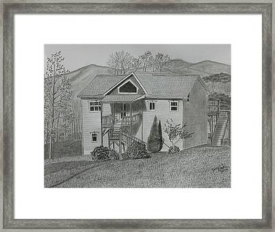 Sunset  Ridge  Framed Print by Tony Clark