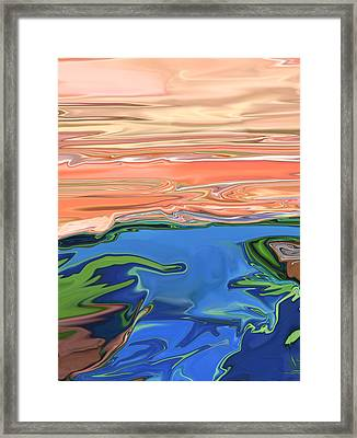 Sunset River Framed Print by Kate Collins