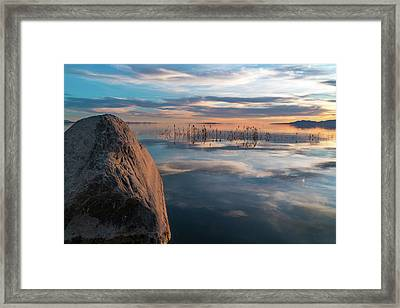 Sunset Rock Framed Print by Justin Johnson