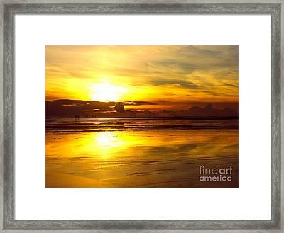 Framed Print featuring the photograph Sunset Roemoe by Sascha Meyer