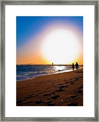 Sunset Romance Framed Print