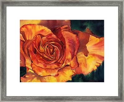 Sunset Rose Framed Print by Leslie Redhead