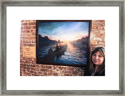 Sunset Row Framed Print