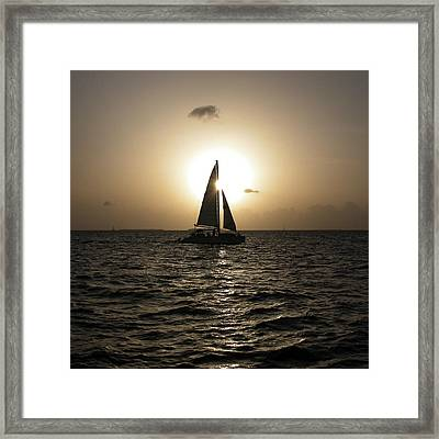 Sunset Sail - Key West Framed Print