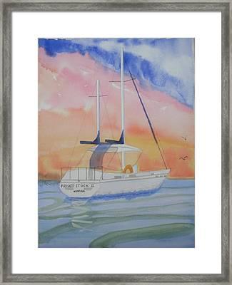 Sunset Sail 2 Framed Print by Warren Thompson