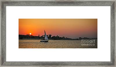 Sunset Sail Framed Print by Charles Dobbs