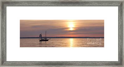 Sunset Sail Framed Print by Idaho Scenic Images Linda Lantzy