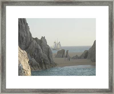 Sunset Sail  Los Cabos Mexico Framed Print by John Julio