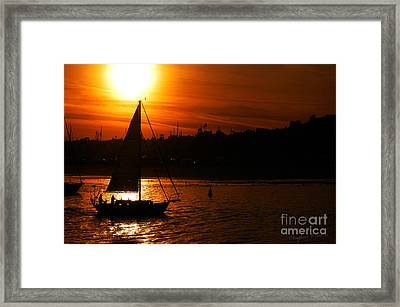 Sunset Sailing Framed Print