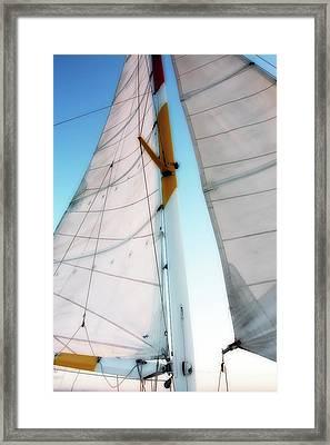 Sunset Sails 2 Framed Print by Alan Hausenflock