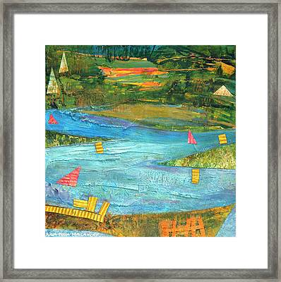Sunset Sails 2 Framed Print