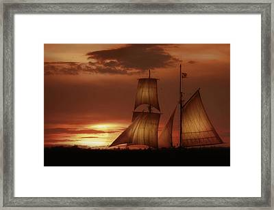 Sunset Sails Framed Print by Lori Deiter