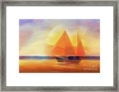 Sunset Sails Framed Print