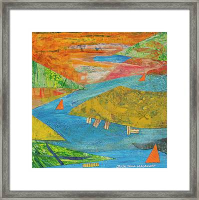 Sunset Sails 1 Framed Print
