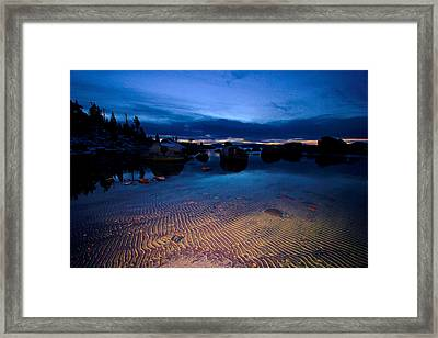 Sunset Sand Ripples Framed Print by Sean Sarsfield