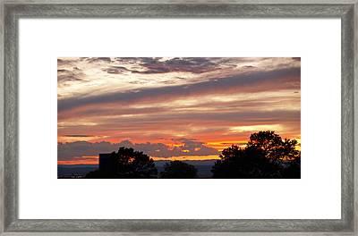 Sunset Santa Fe Framed Print