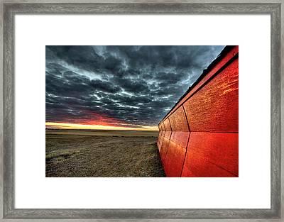Sunset Saskatchewan Canada Framed Print