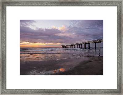 Sunset  Scripps Beach Pier La Jolla Ca Img 1 Framed Print by Bruce Pritchett