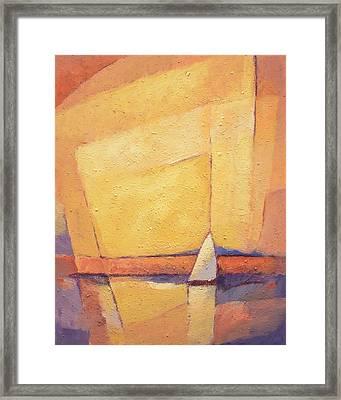 Sunset Sea Framed Print by Lutz Baar