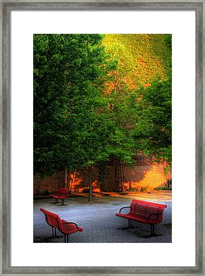 Sunset Seats Framed Print