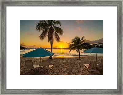 Sunset Secret Harbor Framed Print