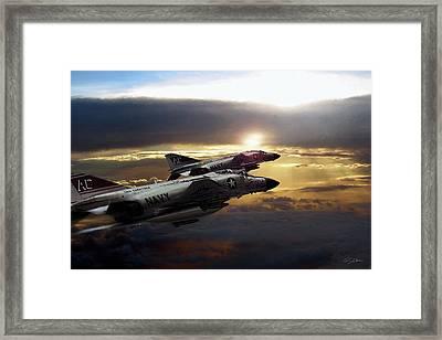 Sunset Section Framed Print