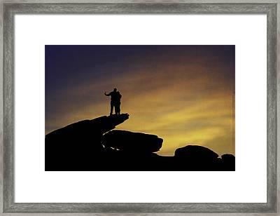 Sunset Selfie Framed Print