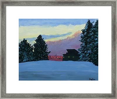 Sunset Serenade Framed Print