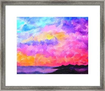 Framed Print featuring the mixed media Sunset Serenade Memories by Mark Tisdale