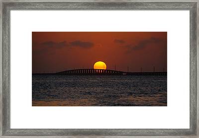 Sunset Seven Mile Bridge Framed Print
