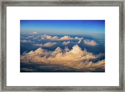 Sunset Shadows Stretching Into The Distance Framed Print