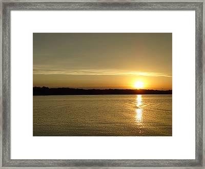 Sunset Shelbyville Il Framed Print