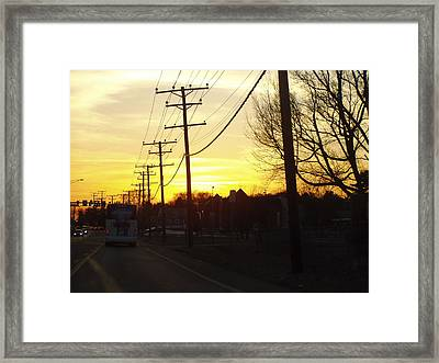 Framed Print featuring the photograph Sunset by Shirin Shahram Badie