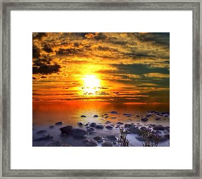 Sunset Shoreline Framed Print